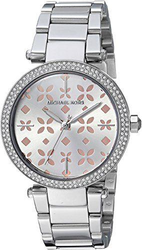 Michael Kors Womens Mini Parker SilverTone Watch MK6483 *** Visit the image link...
