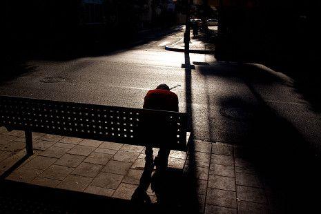 Man sitting alone | Dark Art | Pinterest