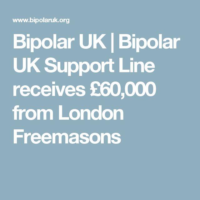 Bipolar UK | Bipolar UK Support Line receives £60,000 from London Freemasons