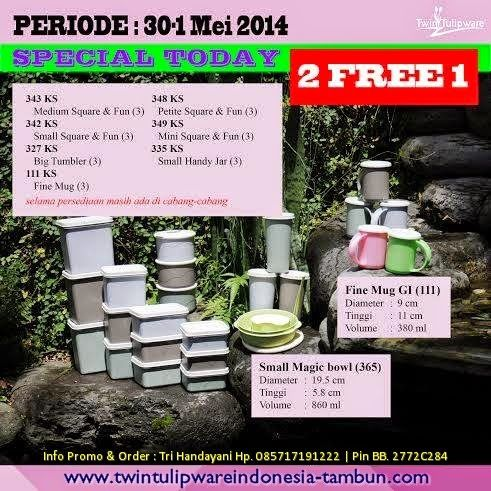 Promo Twin #Tulipware 30 April - 1 Mei 2014 : Small Magic Bowl, Fine Mug GI, Knight Series - Limited Edition
