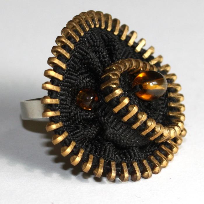 Unique handmade textile jewellery
