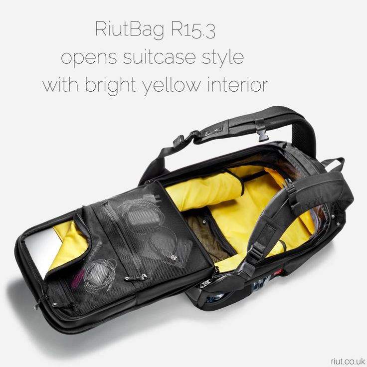 RiutBag R15.3 | Secure and durable travel backpack for 13 – 15 inch laptop