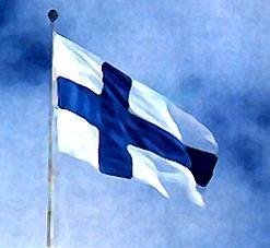 4. Jun: Am Tag der Flagge in #Finnland wird die #Nationalflagge gehisst, die weiß mit blauem Kreuz ist. www.kleiner-kalender.de/59476