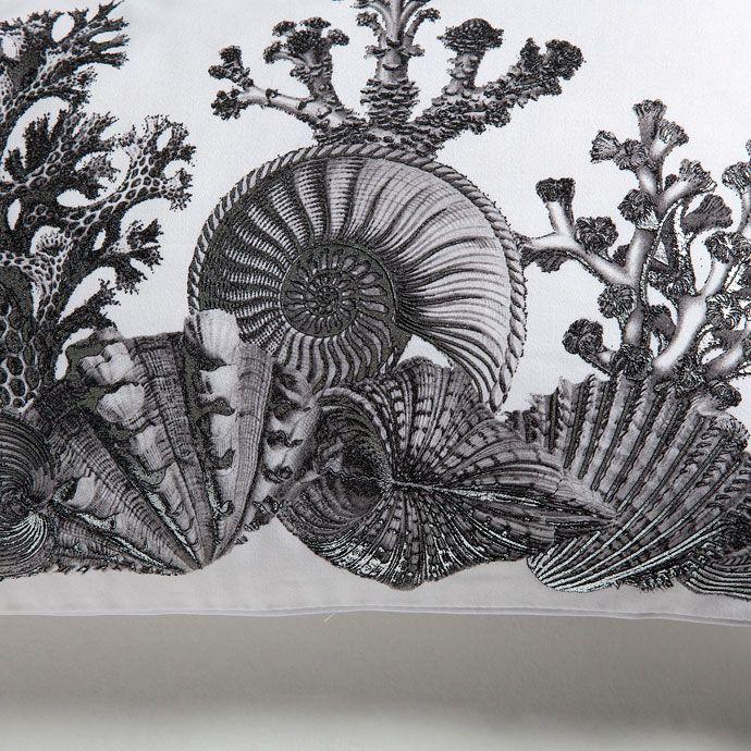 Funda de cojín algodón estampado metalizado marino - Cama - Nueva Colección | Zara Home España