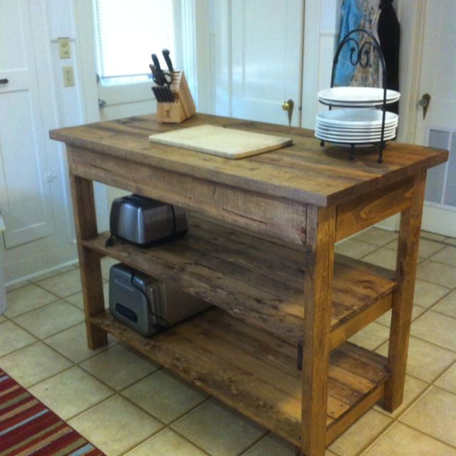 DIY kitchen island. I want this island but way bigger!!!!!