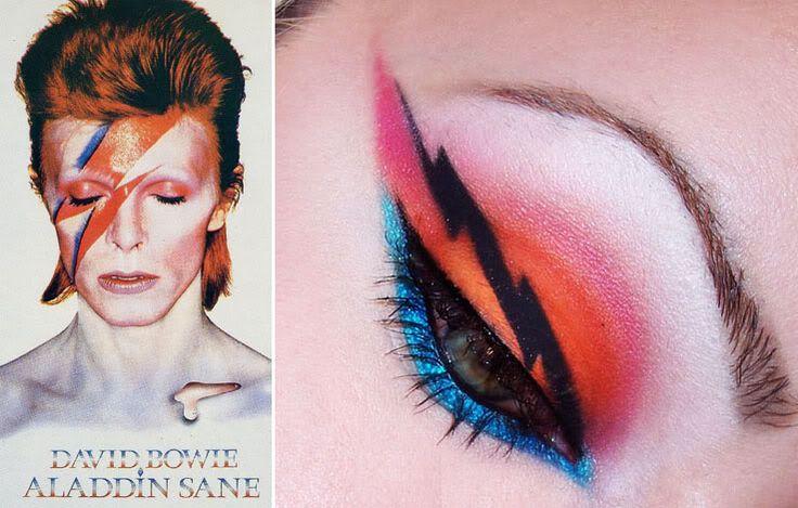 Bowie inspired eye shadow