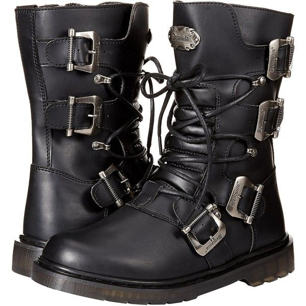 Demonia Men's Defiant-306 Mid Calf Boot ($95) ❤ liked on Polyvore featuring men's fashion, men's shoes, men's boots, mens wide fit shoes, mens wide width work boots, demonia mens boots, mens boots and mens wide shoes