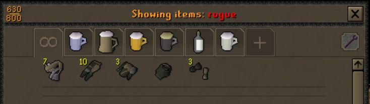 [Suggestion] Can we exchange unneeded Rogue's clothing for the bits we need?