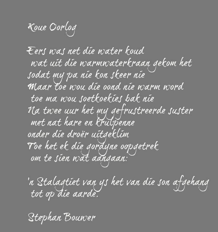 #Koueoorlog #StephanBouwer #Afrikaans #Gedig #Afrikaanseliteratuur