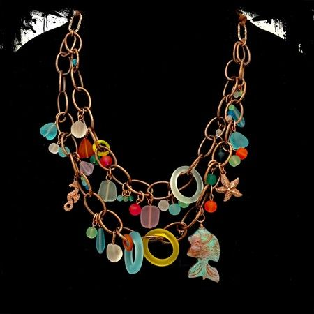 Copper beach sunset necklace (Customer Design) - Lima Beads
