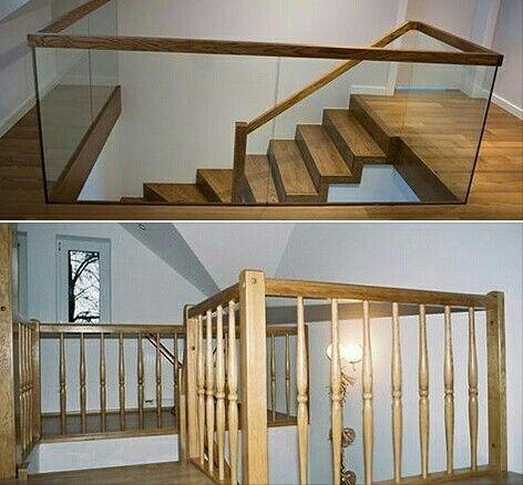 Wy jakie balustrady wolelibyście do swojego domu? Szklane czy drewniane? #schodymika #schodydrewniane #wnętrze #drewno #dom #szkło #balustrada