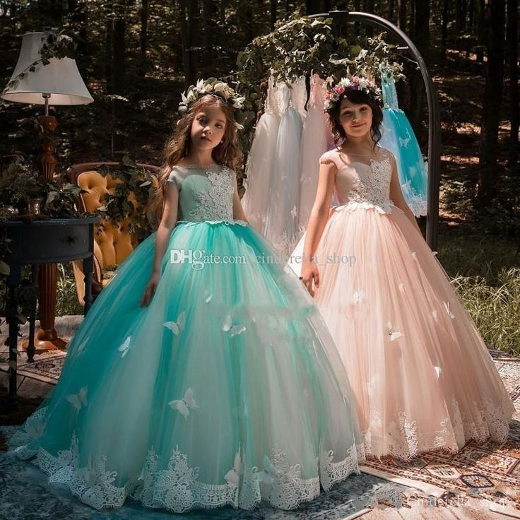 2018 Girls Pageant Dresses With 3d Floral Ball Gown Jewel Floor Length Tulle Flower Girls Child Teens Birthday Party Wear Gowns Cheap Pageant Dresses For Children Pageant Dresses Glitz From Cinderella_shop, $78.35| Dhgate.Com