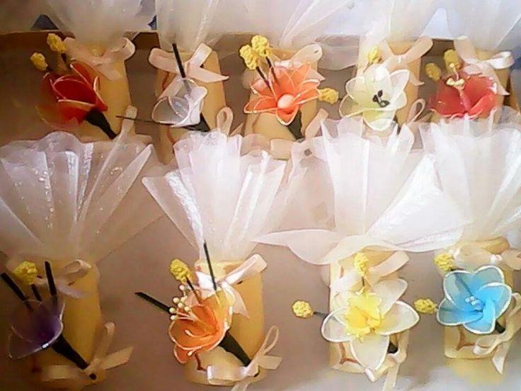 Tegoline con fiori di nylon