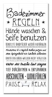 Details Zu Wandschild Dekoschild Familien Regeln Badezimmer Shabby Schild  Sprüche Bad Tafel