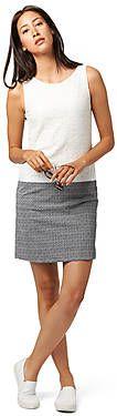 zomerse kanten jurk voor dames (eenkleurig, mouwloos met ronde hals) - TOM TAILOR