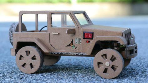 How To Make RC Car(Jeep Wrangler) Amazing Cardboard Car DIY #rccarsdiy