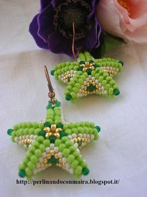 """Ancora orecchini a forma di stella marina per partecipazione fine mese alla """" festa del mare"""" dove tema principale è il mio amato mare, olt..."""
