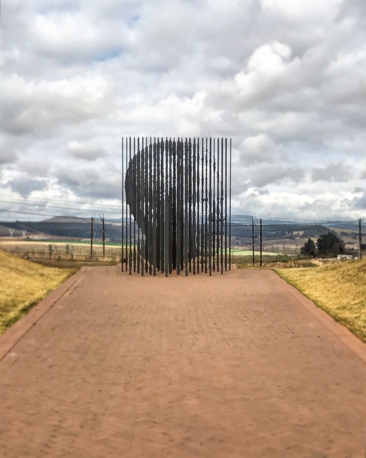 The sculpture at the Nelson Mandela Capture Site, situated at the end of a winding path, which represents the long walk to freedom that he took towards his goal of political equality. 🇿🇦 #landmark #nationalmonument #amazingsculpture
