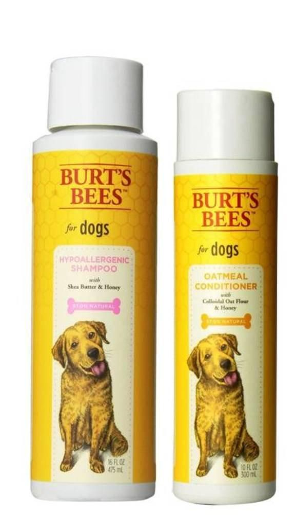 Burt's Bees For Dogs Sensitive Skin Shampoo & Conditioner Bundle: (1) Burt's Bees Hypoallergenic Shampoo With Shea Butter & Honey (16 Oz.) and (1) Burt's Bees Oatmeal Conditioner With Colloidal Oat Flour & Honey (10 Oz.)