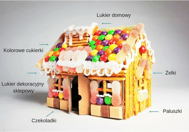 Słodki Domek DIY Sweet house DIY Candy Carboard House DIY
