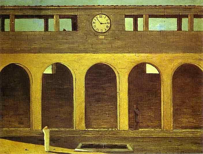enigma of the hour by Giorgio de Chirico.