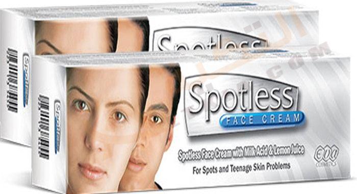 دواء سبوتلس Spotless كريم ي ستخدم في علاج تفتيح البشرة والتخلص من الرؤوس السوداء والبقع السمراء التي تتعرض لها لباشرة نتيجة ال Face Cream Skin Problems Cream