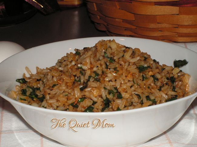 Garlic-Parsley Fried Brown Rice   The Quiet Mom. Make with orzo.