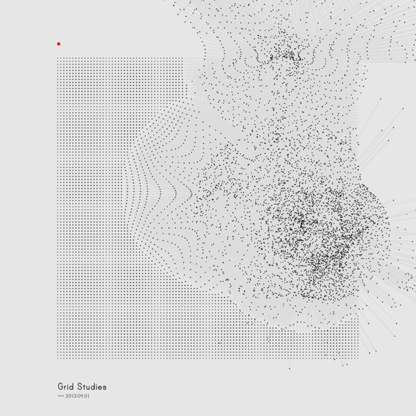 ryanpanos: Generative Sketches (); Grid Studies by Refik Anadol Personal experiments with generative softwate tools. Main purpose of the studies are to examine possibilities of self-explanotary language creation between software and viewer. Made by Processing.