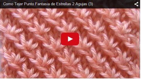 CURSO GRATIS ONLINE DE TEJIDO DOS AGUJAS: Punto Fantasía de Estrellas | Crochet y dos agujas