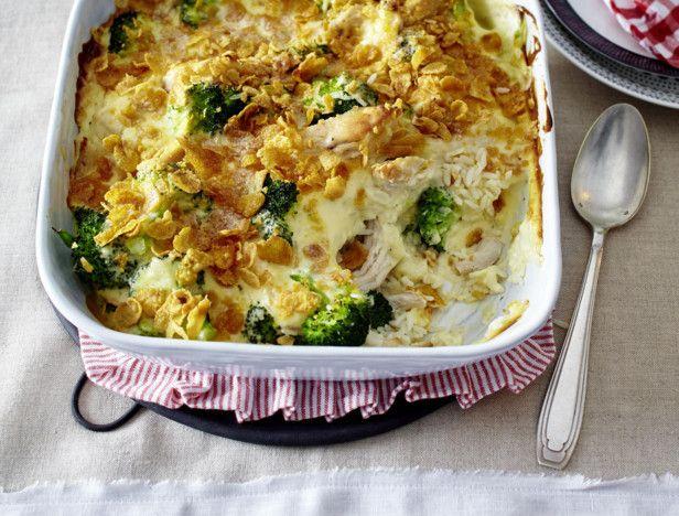 Hähnchen-Brokkoli-Auflauf mit Reis