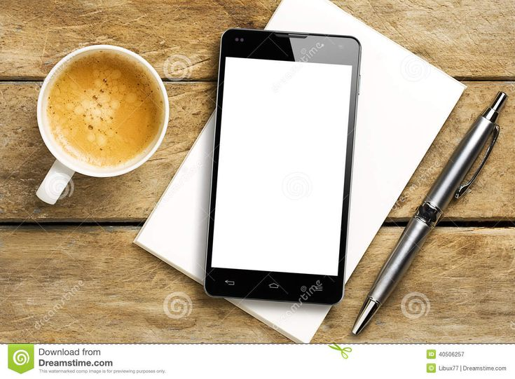 Smartphone Blank Screen Coffee Pen Notepad Download From Over 49 Million High Quality Stock