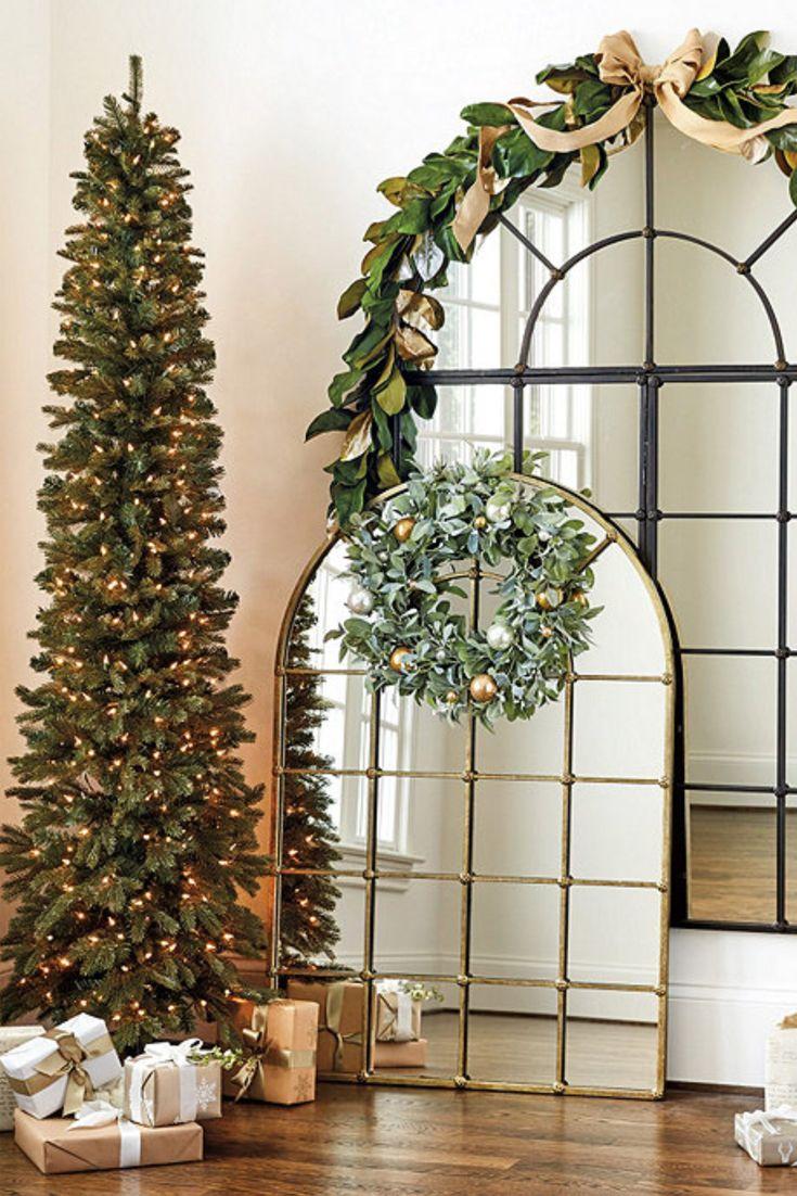 Highlands Pencil Prelit Christmas Tree Ballard Designs Decoracion Navidad Decoracion De Unas Navidad