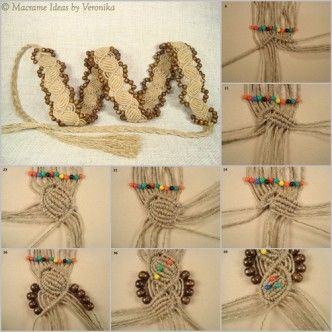 DIY twine knot belt. Follow us: www.facebook.com/fabartdiy