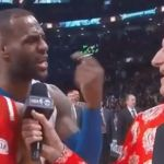LeBron James breaks up Kobe Bryant's interview with Craig Sager - http://blog.clairepeetz.com/lebron-james-breaks-up-kobe-bryants-interview-with-craig-sager/