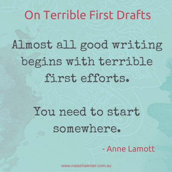 anne lamotts advice to all writers (below is a copy of anne lamott on shitty first draft, text is 100% not mine) anne lamott is a professional writer whose book bird by bird: lamott's advice on shitty first drafts also reminds us that all first drafts are terrible.
