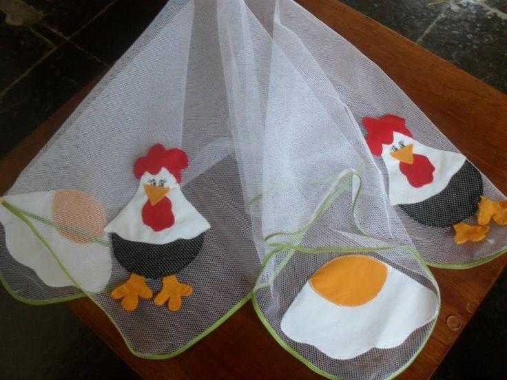 cobre-alimento - galinha - patchwork