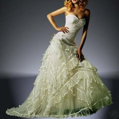 Great frilly wedding dresses