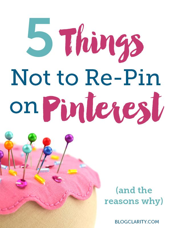 5 things not to repin on Pinterest