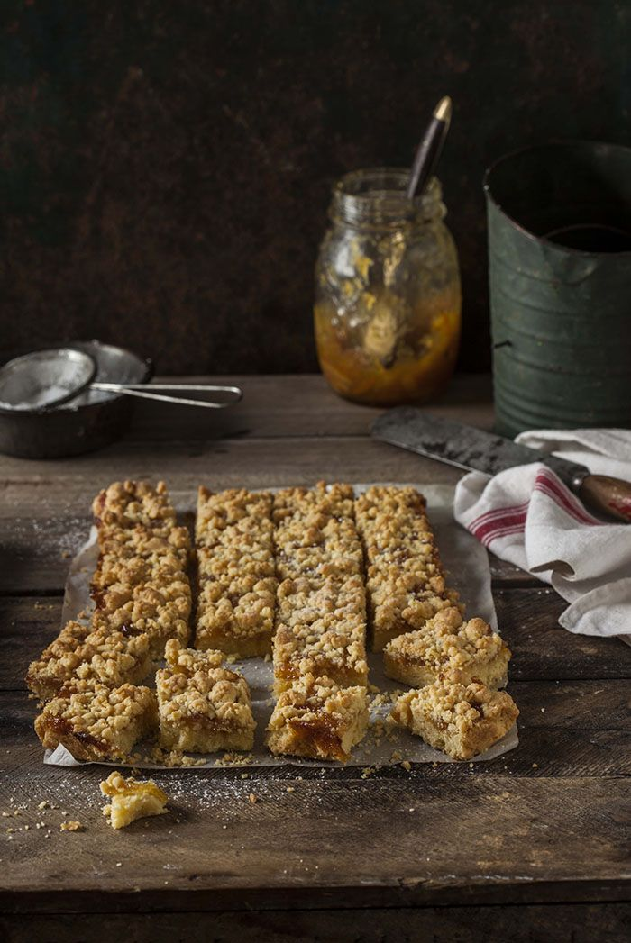 shortbread bars with whisky marmalade on DrizzleandDip.com {and my new cookbook is finished}