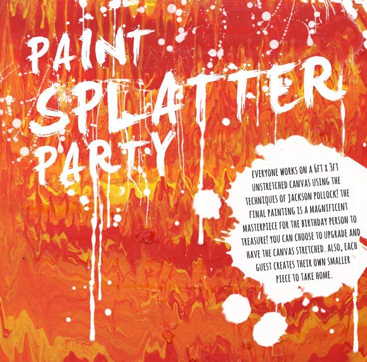 4Cats Arts Studio paint splatter party