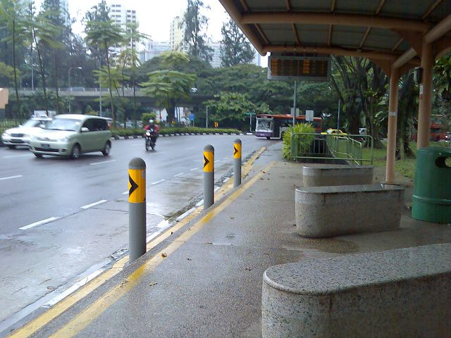bus stop at Singapore