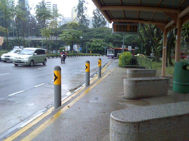 bus stop at Singapore