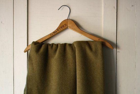 Woolen military blanket.