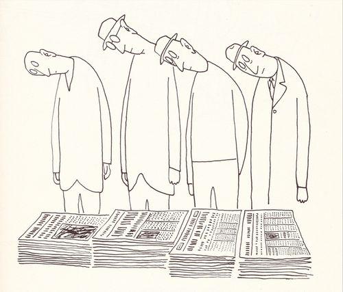 Saul Steinberg. Newspapers.