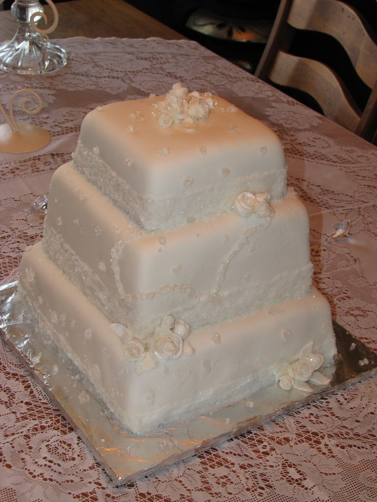 """I consider it a privilege and an honor to make a 60th """"Diamond"""" Wedding Anniversary cake! Wow! Definitely a reason to celebrate. Not too many of those could be found when I googled """"60th wedding anniversary cakes"""" for ideas. I hope that the couple and their family enjoyed it and were blessed by it. =0)"""