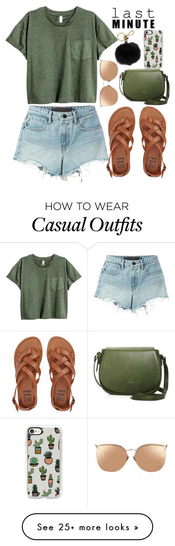 """so casual day!"" by feerubal on Polyvore featuring T By Alexander Wang, Billabong, Linda Farrow, Casetify and MICHAEL Michael Kors"