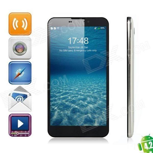 """UMI Cruz MTK6589T Quad Core Android 4.2 WCDMA Telefone w / 6,44 """" FHD OGS , 2GB de RAM, 32GB de ROM - Branco - Frete Grátis - DealExtreme"""