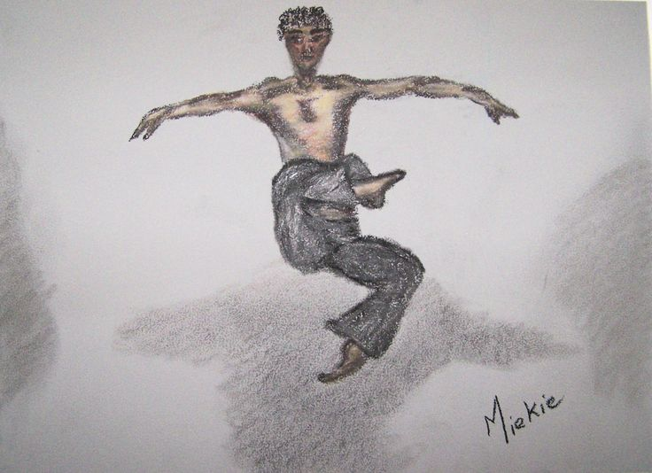 Pastel on Mi-Teintes Touch Canson paper. A2 size. I was enthralled by this ballet dancer when I first came across the photo. I then set out to draw and paint him in different media/mediums. Which is your favorite? R600 unframed. R1200 framed.