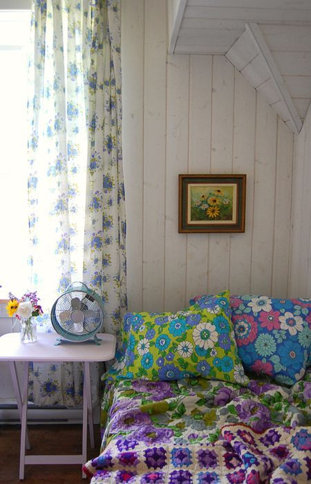 mmmmm... Fab vintage linen used to make new throws and cushions :) Great ideas