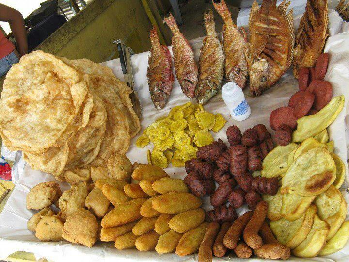 Dominican beach food!